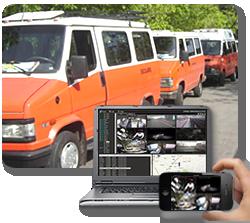 cámaras video en tiempo real transportes escolares
