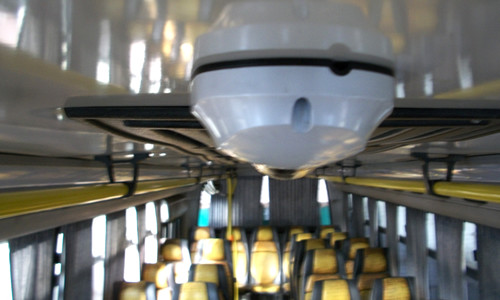 Las cámaras de seguridad son ideales para el transporte de pasajeros