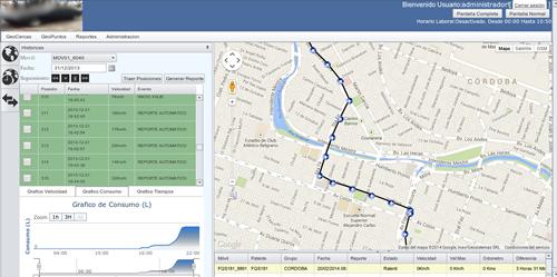 Solicite un demo del Sistema de Control de Flotas y Monitoreo Satelital GPS