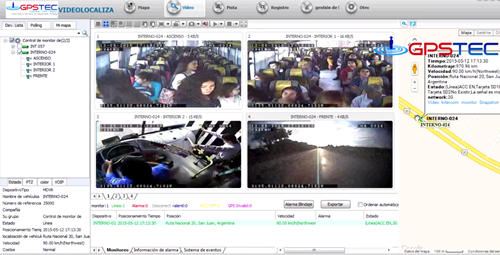 Vigilancia a bordo para ómnibus de transporte urbano de pasajeros
